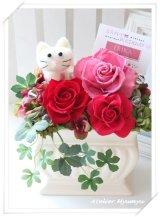 白猫アレンジ・大(レッド)