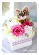 キジ猫アレンジ(ピンク)